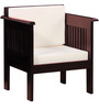Clevedon One Seater Sofa in Passion Mahogany Finish by Amberville