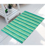 Saral Home Beige & Green Cotton 28 x 20 Inch Premium Quality Multi Purpose Floor Rug - Set of 2