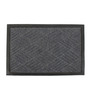 Saral Home Grey Coir 24 x 16 Inch Outdoor Decorative Heavy Duty Mat