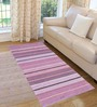 Saral Home Pink Cotton 72 x 28 Inch Premium Quality Multi Purpose Rug - Set of 2
