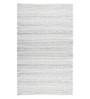 Saral Home White Cotton 60 x 36 Inch Decorative Soft Handloom Made Chindi Rug