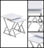 Sardinia Set of 2 Nesting Tables in White  colour by @home