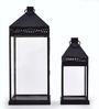 Savvy Art Black Iron Lantern - Set of 2