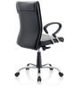 Scroll Medium Back Ergonomic Chair in Black Colour by Oblique