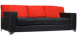 Seto Three Seater Sofa in Red & Black Colour by Home City