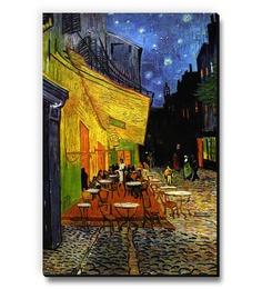 Seven Rays Cafe Terrace By Vincent Van Gogh Fridge Magnet