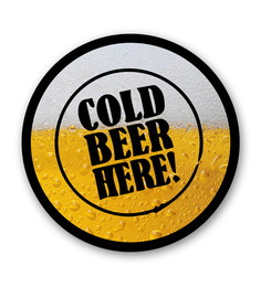 Seven Rays Cold Beer Here Fridge Magnet