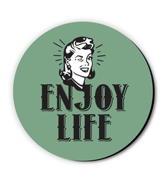 Seven Rays Green MDF Enjoy Life! Fridge Magnet