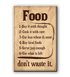 Seven Rays Food-Don't Waste It Fridge Magnet