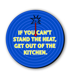 Seven Rays Get Out Of The Kitchen Fridge Magnet