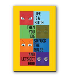 Seven Rays Life Quote Fridge Magnet