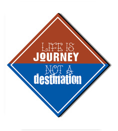 Seven Rays Multicolour MDF Life Is A Journey! Fridge Magnet