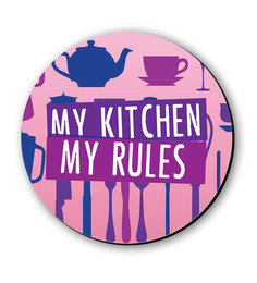Seven Rays My Kitchen My Rules Fridge Magnet