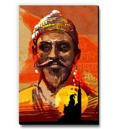 Seven Rays Multicolour MDF Shivaji Fridge Magnet