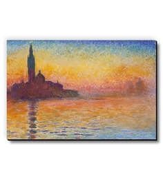 Seven Rays Sunset In Venice By Claude Monet Fridge Magnet