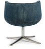 Seattle Jet Swivel Chair in Denim Colour by HomeHQ