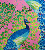 Sej by Nisha Gupta Multicolor Cotton 16 x 16 Inch HD Digital Premium Peacock Cushion Covers - Set of 2