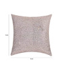 SEJ by Nisha Gupta White Silk 16 x 16 Inch Silver Sequin Scatter Cushion Cover
