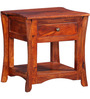 Memphis Bed Side Table in Honey Oak Finish by Amberville