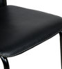 Set of 2 Dining Chairs in Black Colour by Penache Furnishings