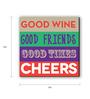 Seven Rays Multicolour Fibre Board Cheers Around Square Fridge Magnet