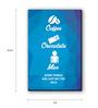 Seven Rays Blue Fibre Board Coffee Chocolate Men Fridge Magnet