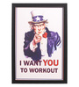 Seven Rays Glass, Fibre & Paper 8 x 1 x 12 Inch I Want You to Workout Framed Poster