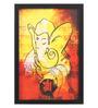 Seven Rays Glass, Fibre & Paper 8 x 1 x 12 Inch Shree Ganesha Deva Fine Art Print Framed Poster