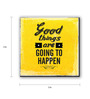 Seven Rays Yellow Fibre Board Good Things Fridge Magnet