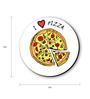 Seven Rays Multicolour Fibre Board I Love Pizza Fridge Magnet