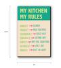 Seven Rays Multicolour Fibre Board My Kitchen My Rules Fridge Magnet