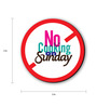 Seven Rays Multicolour Fibre Board No Cooking on Sunday Fridge Magnet