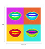 Seven Rays Paper 12 x 1 x 12 Inch Lips Popart Unframed Poster