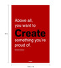 Seven Rays Paper 12 x 1 x 18 Inch Create Something You Are Proud Of Richard Branson Unframed Poster
