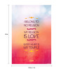 Seven Rays Paper 12 x 1 x 18 Inch My Religion Is Love Unframed Poster
