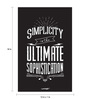 Seven Rays Paper 12 x 1 x 18 Inch Simplicity Is The Ultimate Sophistication Unframed Poster