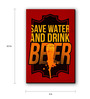 Seven Rays Multicolour Fibre Board Save Water Drink Beer Fridge Magnet