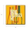 Seven Rays Yellow Fibre Board Wine Inspires Me Orange Fridge Magnet