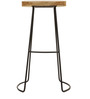 Seville Solid Wood Bar Stool in Natural Finish by TheArmchair