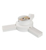 Troggs Flush Mounted in White by Bohemiana