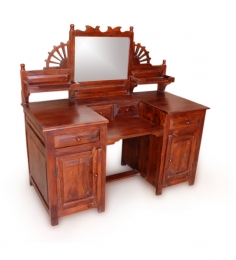 Rajputana Sheesham Wood Dressing Table With Mirror