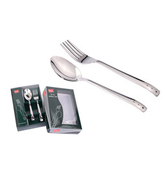 Shapes Triple Dots Stainless Steel 12-piece Spoon And Fork Set