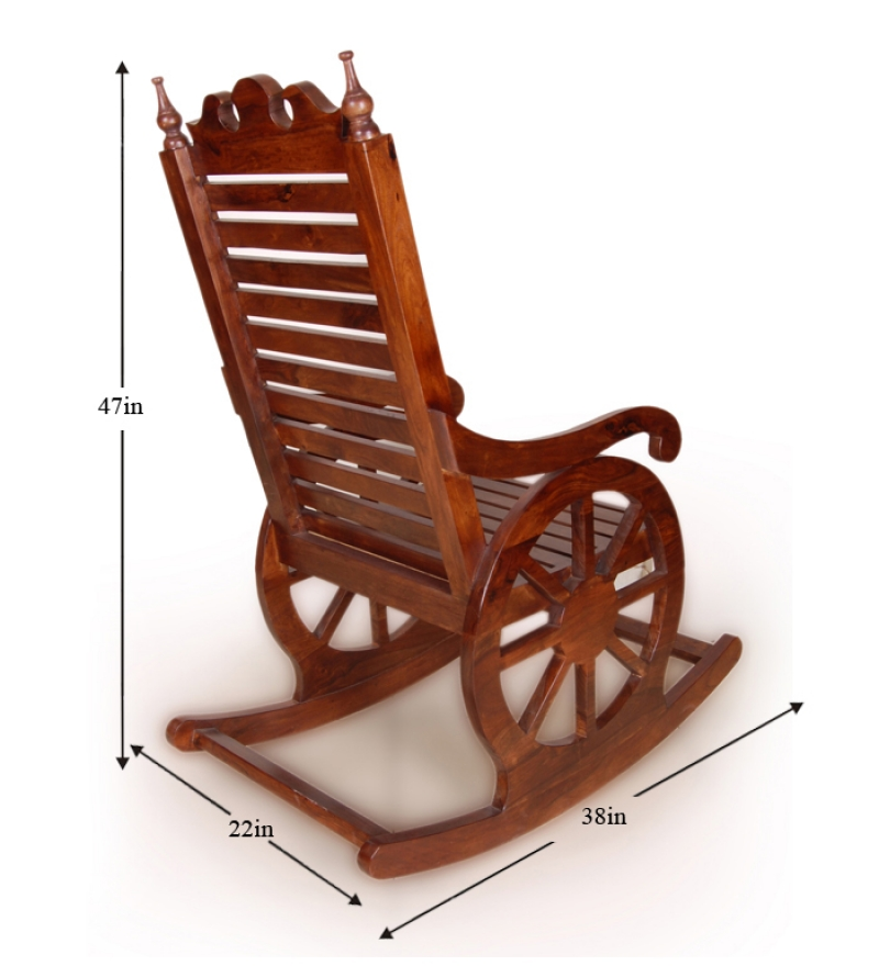 chariot like rocking chair by mudramark online rocking chairs furniture pepperfry product. Black Bedroom Furniture Sets. Home Design Ideas