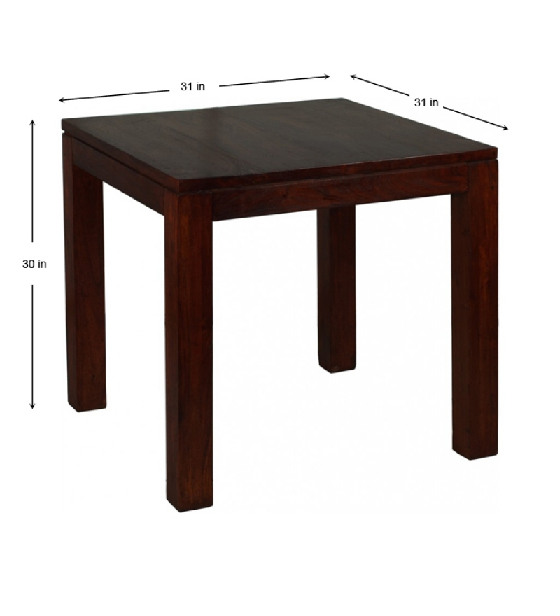 Sheesham Wood Square Dining Table By Mudramark Online
