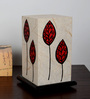 Shady Ideas Red & White Acrylic & Handmade Paper Table Lamp