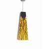 Shady Ideas Drenched  yellow Steel Pendant