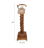 Shah Kreations Brown Sheesham Wood Pedestal Rope Design Retro Telephone