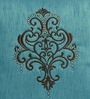 Shahenaz Home Shop Blue Poly Silk 16 x 16 Inch Ethnic Indian Cushion Cover
