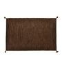 Shahenaz Home Shop Brown Cotton 36 x 60 Inch Solid Melange Carpet
