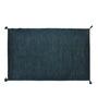 Shahenaz Home Shop Turquoise Cotton 24 x 36 Inch Solid Melange Carpet